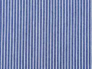 Jeansstoff schmale Streifen, weiss mittelblau