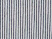 Stretchstoff Bengalin Hosenstoff Streifen, natur dunkelblau