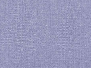 Leinen Baumwolle Webware uni, rauchblau