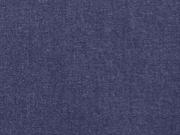 Leinen Baumwolle Webware uni, dunkelblau