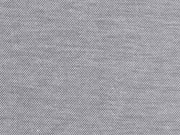T-Shirtstoff Piqueestruktur uni, schwarz meliert