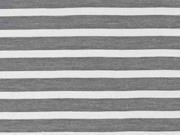 T-Shirtstoff Piqueestruktur Streifen, schwarz weiss
