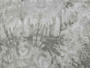 Viskose Stoff Batik Ethno, taupe