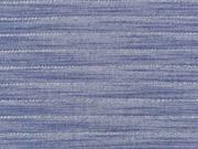Viskose Jeanslook Glitzer Streifen, silber jeansblau