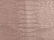 Lederimitat Krokodilhaut Prägung, altrosa metallic