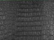 Lederimitat Krokodilhaut Prägung, schwarz