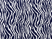Viskosejersey Zebramuster Animal Print, dunkelblau
