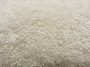 RESTSTÜCK 34 cm Teddyfleece Teddyfell aus Baumwolle, natur