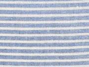 RESTSTÜCK 70cm leichte Baumwolle Streifen 4mm, jeansblau