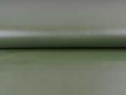 Lederimitat elastisch uni, dunkles khakigrün
