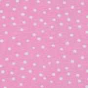 Jerseystoff Punkte, weiß rosa