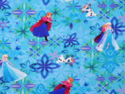 Sweatstoff French Terry Frozen Elsa Anna Olaf, hellgrün türkis