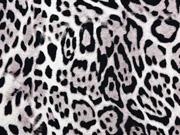 Viskosejersey Leopardenmuster Animal Print,cremeweiß schwarz