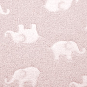 Wellnessfleece Elefanten, weiss rosa