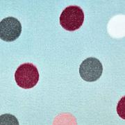 Wellnessfleece Punkte, rosa hellrosa dkmint mint