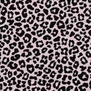 Jerseystoff kleines Leopardenmuster, schwarz altrosa