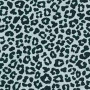 Jerseystoff kleines Leopardenmuster, schwarz altmint