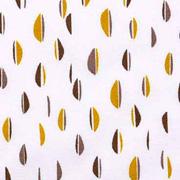 Bio-Baumwollstoff Halb-Ovale taupe ockergelb weiß