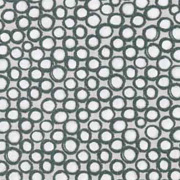 Bio-Baumwollstoff Punkte Kringel, weiß altgrün ecrue
