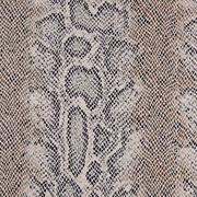 Webware Schlangenmuster Stretchstoff elastisch, beige khaki silber metallic