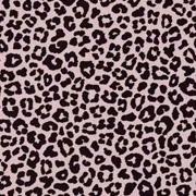 Baumwollstoff kleines Leoparden Muster, schwarz altrosa