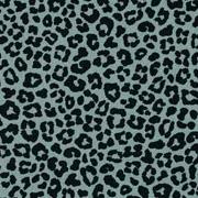 Baumwollstoff kleines Leoparden Muster, schwarz mintgrün
