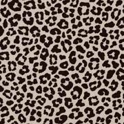Baumwollstoff kleines Leoparden Muster, schwarz beige