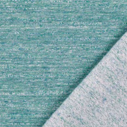 Sweatstoff angeraut, grün blau meliert