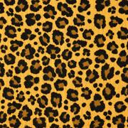 Musselin Stoff Double Gauze Leoparden Muster, ockergelb
