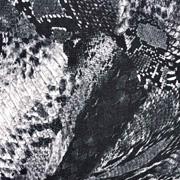 Viskose Twillstoff Schlangenmuster, schwarz weiß