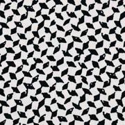 Viskose Twillstoff kleine Rauten, schwarz cremeweiß