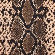 Jacquard Jerseystoff Schlangenmuster, braun schwarz
