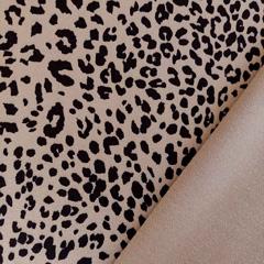 Mantelstoff Jackenstoff Leopardenmuster, schwarz hellbraun