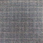 Glencheck Webware elastisch, zimtbraun blau schwarz