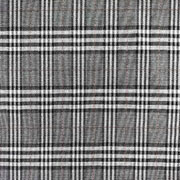 Jacquard Stoff Glencheck Webware Karomuster Glitzer, schwarz weiß