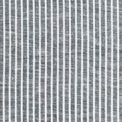 Rayon Leinen Webware Streifen, weiß schwarz meliert