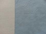 Vintage Lederimitat geprägte Optik, eisblau