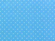 Baumwolle Punkte 2 mm,  baby hellblau-weiss
