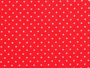 RESTSTÜCK 72 cm Baumwolle Punkte 2 mm, rot-weiss