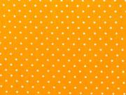 RESTSTÜCK 63 cm Baumwolle Punkte 2mm, gelb/weiß