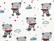 Jersey Bären mit Schal Wolken, weiß