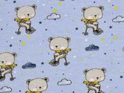 Jersey Bären mit Schal Wolken, hellblau