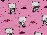 Jersey Bären mit Schal Wolken, rosa
