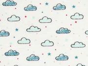 Jersey Wolken, weiß