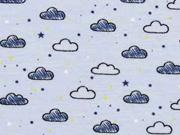 Jersey Wolken, hellblau