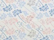 Jersey Pusteblumen, hellblau weiß