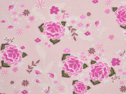 Jersey Blumen Blätter Asia Look, rosa
