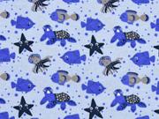 Jersey Meerestiere Sealife, hellblau