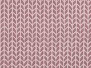Baumwollstoff Zopfmuster, rosa