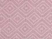 Baumwollstoff Rauten Zickzack, rosa